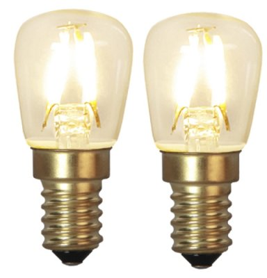 Decoration LED Klar filament lampa E14 2100K 90lm 2st