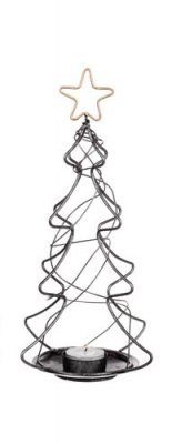 Christmas Tree Ljuslykta Silver Different Design